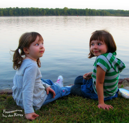 Funny picture of my granddaughters