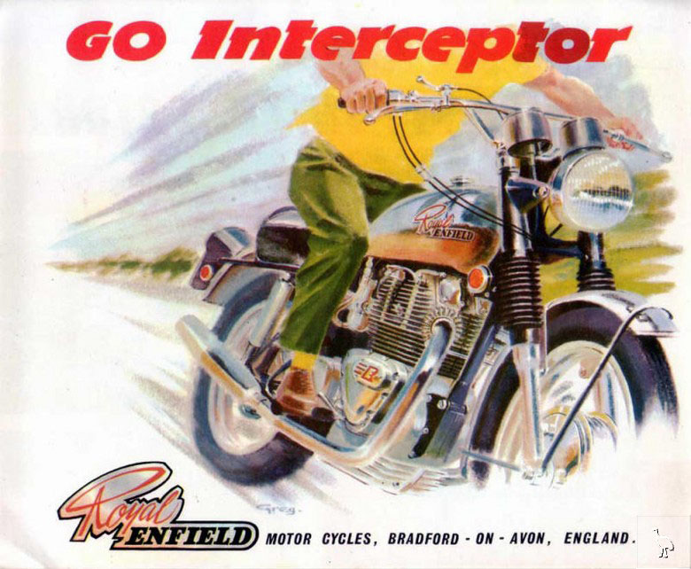 Royal Enfield Interceptor ad.