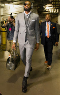 In LeBron's case, the pants were a good four or five inches short–allowing  you to see pretty much all of his dress socks. What made it look even  worse, ...