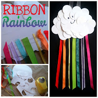 ribbon rainbow kids craft