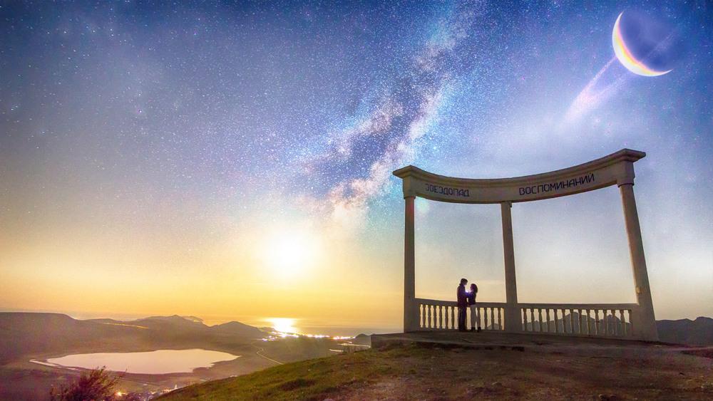Ротонда Звездопад воспоминаний в Крыму