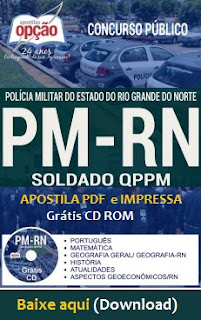 Apostila PMRN 2017 PDF Soldado Rio Grande do Norte (PM-RN), download gratis
