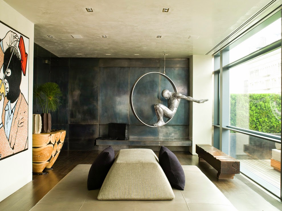 Eye for design decorate with industrial metal walls - Modern wall decor ideas for living room ...