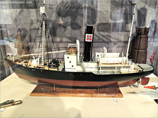 Maqueta de Barco en el Museo de las Ballenas de New Bedford