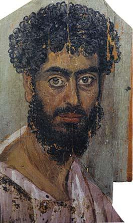 Portrait of a Man Mummy in Faiyum