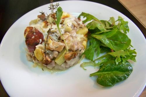 Cuisine en folie gratin de crozets au reblochon diots et - Cuisiner les champignons pieds de mouton ...