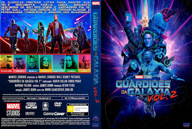 Capa DVD Guardiões Da Galáxia Vol 2 [Exclusiva]