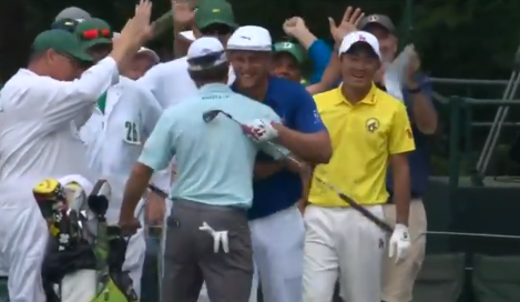Bryson DeChambeau hits hole-in-one at Masters Tournament