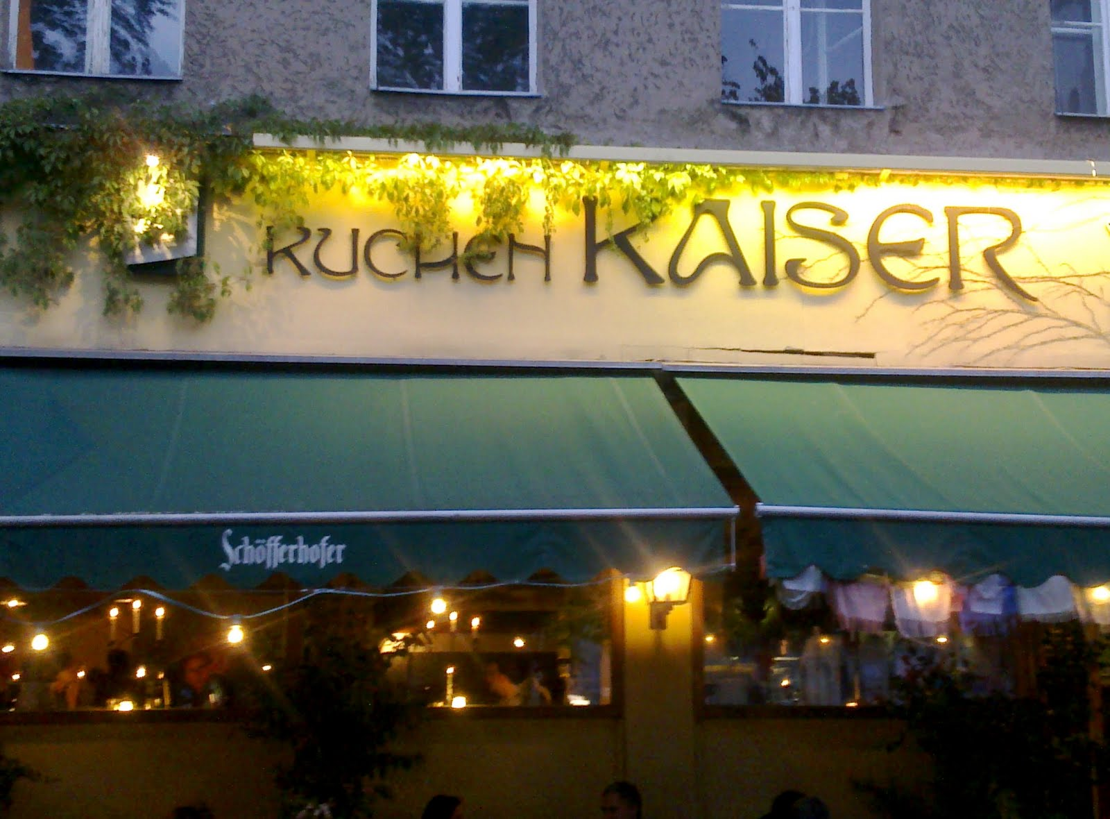 Kuchen Kaiser Berlin If Life Gives You Tangerines Dinner At Kuchen Kaiser