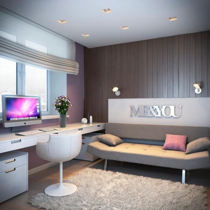 Hogares frescos 100 dise os de habitaciones para ni as - Decoracion habitacion moderna ...