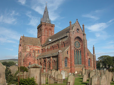 The St Magnus Cathedral in Kirkwall