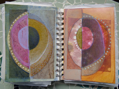 drawings paintings colourful circles sketchbook verna vogel