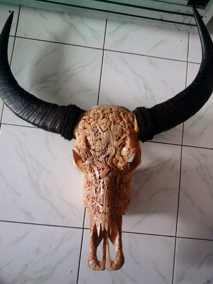 Bali Artwork — Skull Carvings