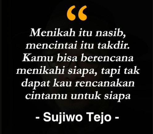 Kata Kata Cinta Sujiwo Tejo