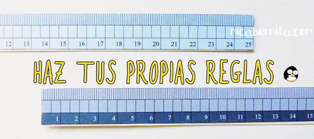 DIY regreso a clases... cómo hacer reglas graduadas, reglas para medir caseras, reglas de papel (Nica Bernita)