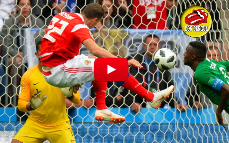 Mira aquí los 5 goles que Rusia le metió a Arabia Saudita