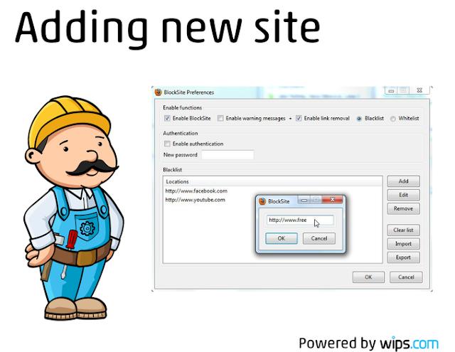 اضافة حجب المواقع لبرنامج متصفح فيرفوكس BlockSite 1.1.8.1