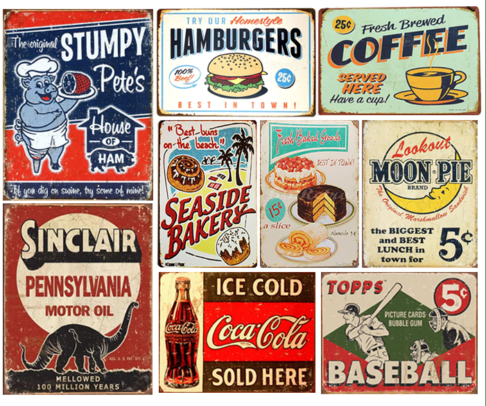 Super cute and perfect for any decor: 15 Vintage Metal Signs Under $10