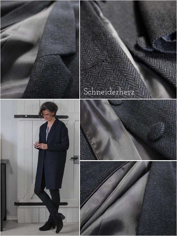 Details Mantel German Tweed Burad Schnittmuster