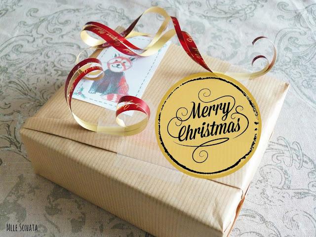 Cadeaux de Noel: papier cadeau.