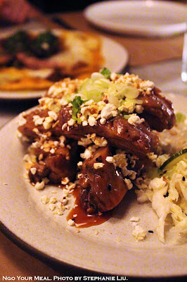 Popcorn Ribs at Dinnertable in New York City