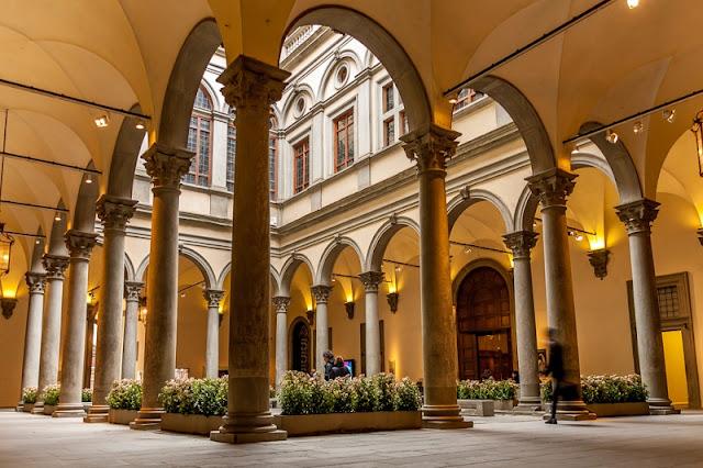 Interior do Palazzo Strozzi em Florença