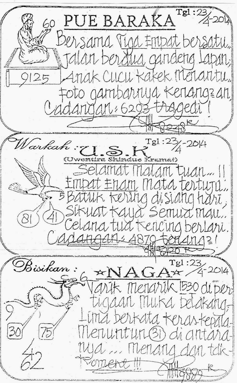 Prediksi dan syair singapura: PREDIKSI DAN SYAIR SGP RABU TGL 23/04/2014