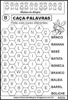 Caça-palavras letra B