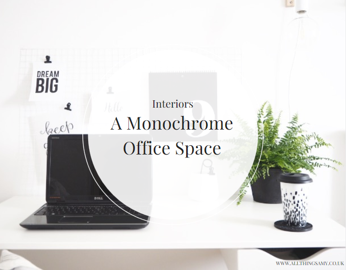 I've created a minimalistic, monochrome office space where I can blog in peace