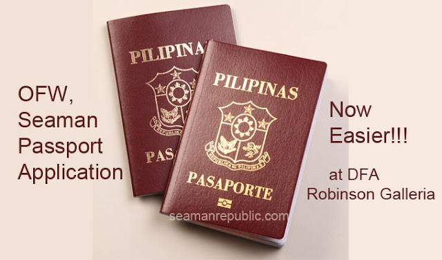 Easy application process for OFW and Seaman Philippine Passport