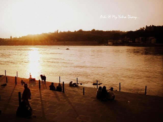 Sunset over River Ganga, Rishikesh, India