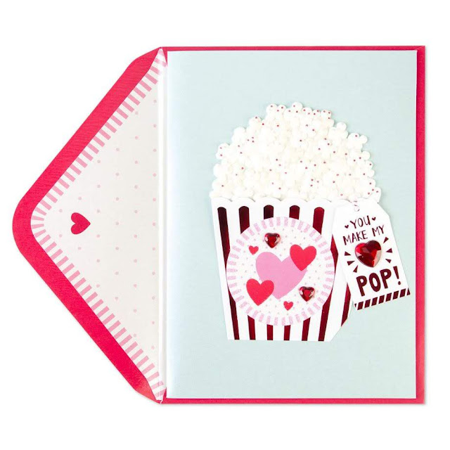 Food-Themed Valentine's Day Cards -- Popcorn