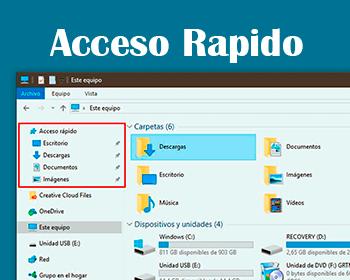 acceso rapido windows 10