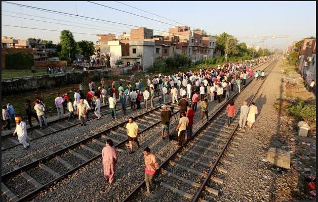 Amritsar train accident 60 Dead