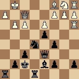 Posición partida de ajedrez Tolosa-Baquero después de 24.d3