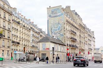 Paris : Fresque de François Boisrond, Paris dans la tête, oeuvre monumentale dans la lignée figuration libre - Xème