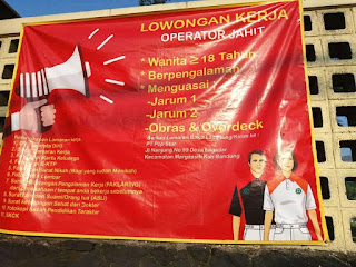 Lowongan Kerja Operator Jahit di Bandung 2019 Terbaru Pabrik PT Pop Star lulusan SMP SMA SMK MA