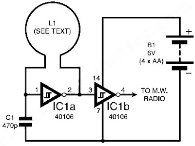 Circuit détecteur de métaux simple