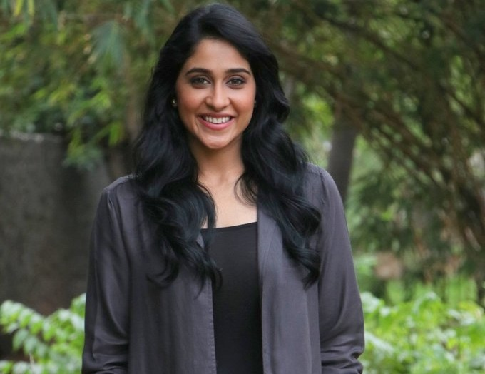 Regina Cassandra during Gemini Ganeshanum Suruli Raajanum Movie Press Show