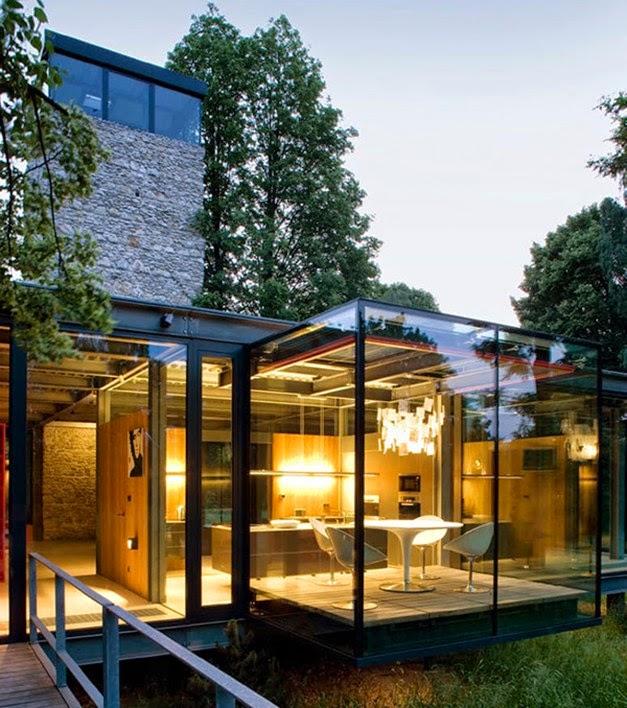 Desain Rumah Kayu Dengan Konsep Minimalis Terbuka Dua Lantai Griya Indonesia