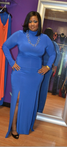 d274bb634ef STYLISH CURVES PICK OF THE DAY  CHIC AND CURVY BOUTIQUE DOUBLE SPLIT PLUS  SIZE DRESS