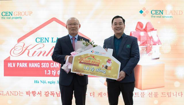 Cenland tặng ông Park Hang Seo căn hộ The K Park trị giá 1,3 tỷ đồng