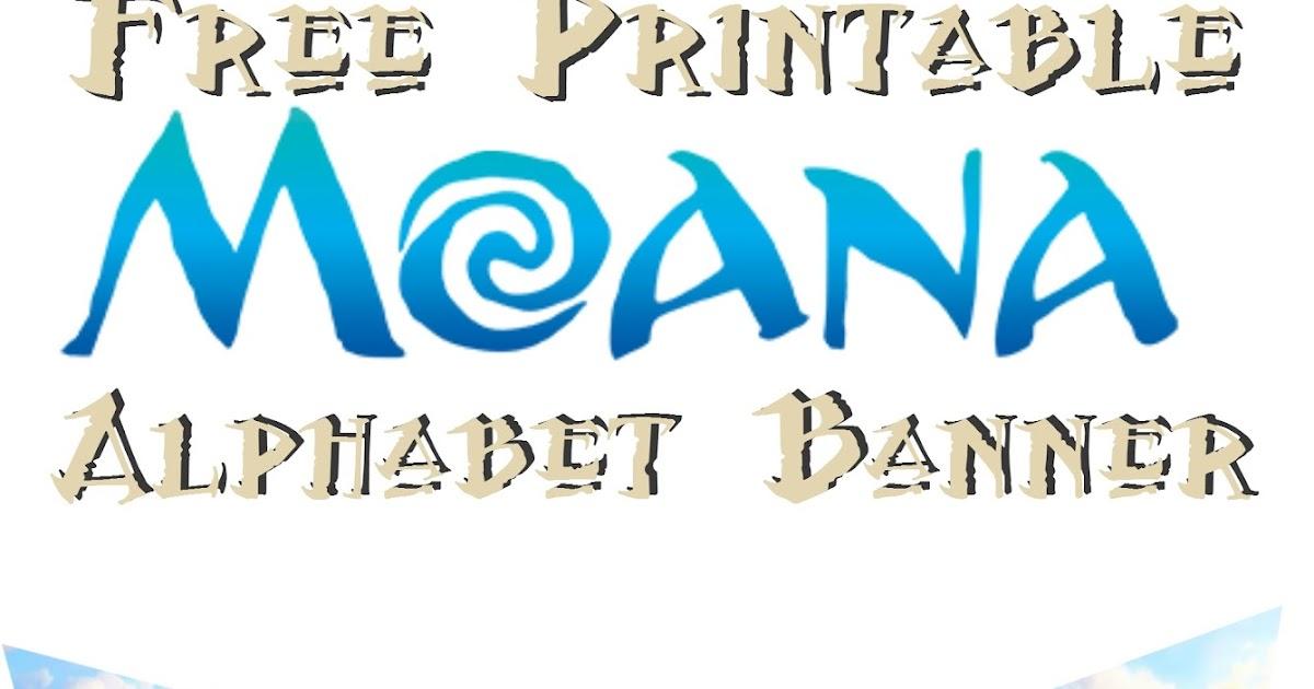 Musings Of An Average Mom Moana Alphabet Banner
