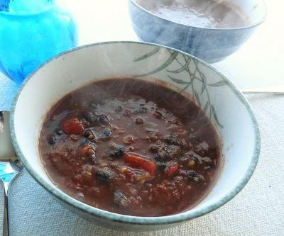 Black Bean & Salsa Soup