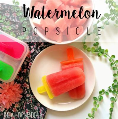 resep popsicle, watermelon popsicle, resep minuman mudah