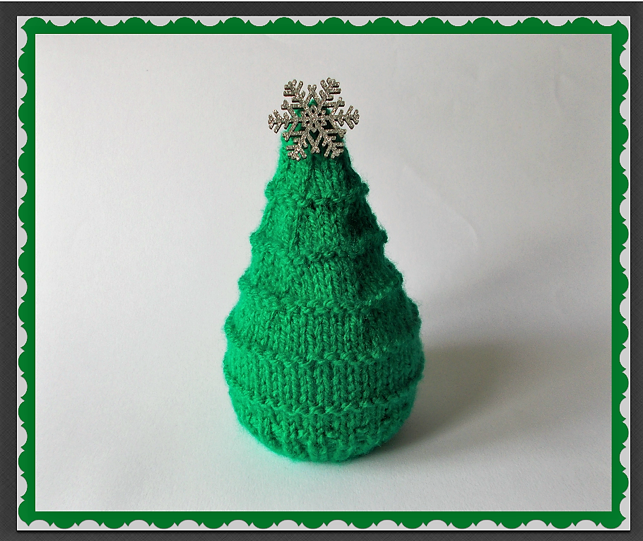 f//p Hand Knitted Christmas Tree chocolate orange cover
