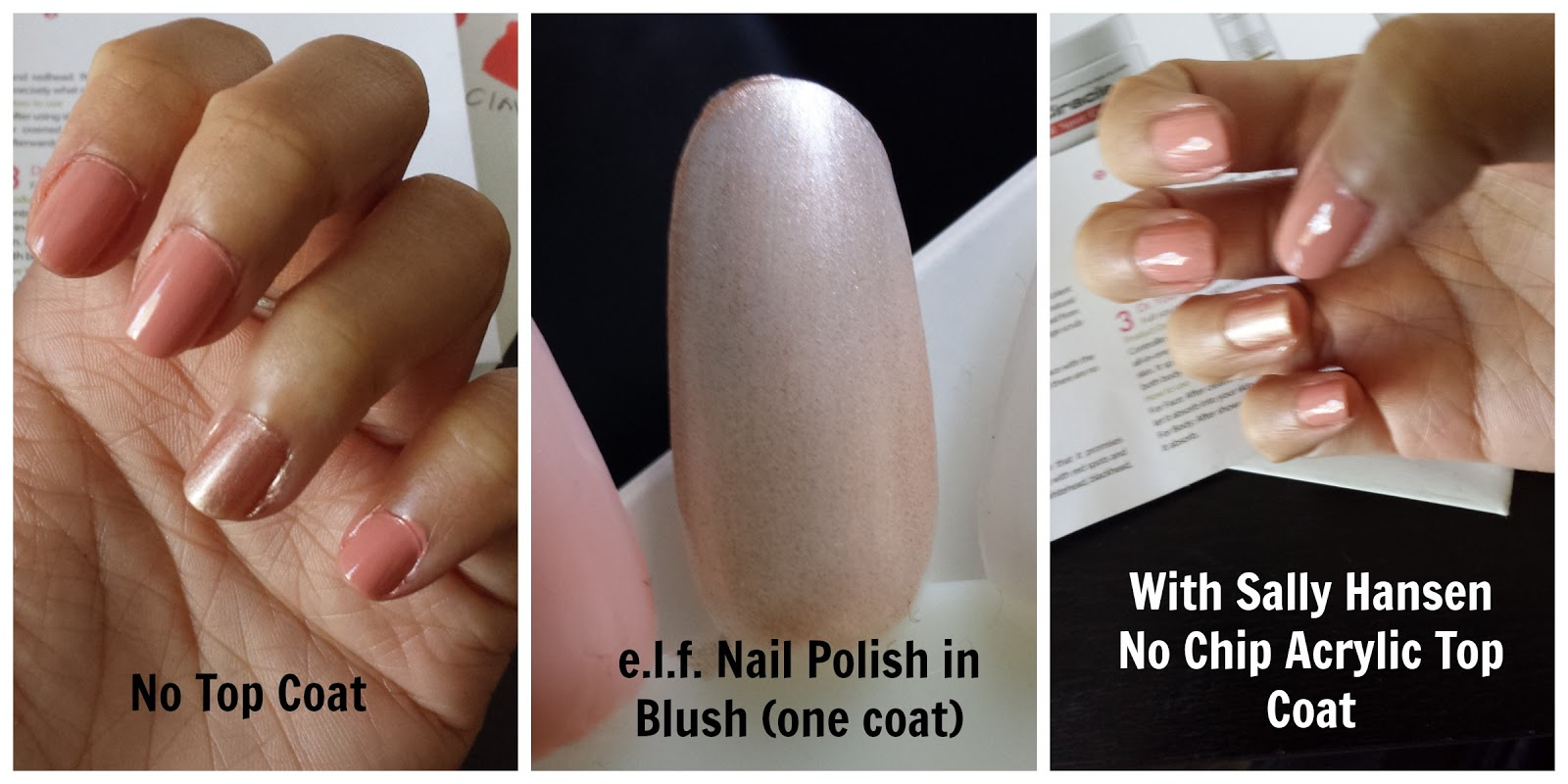 elf nail polish in prissy chrissy and blush