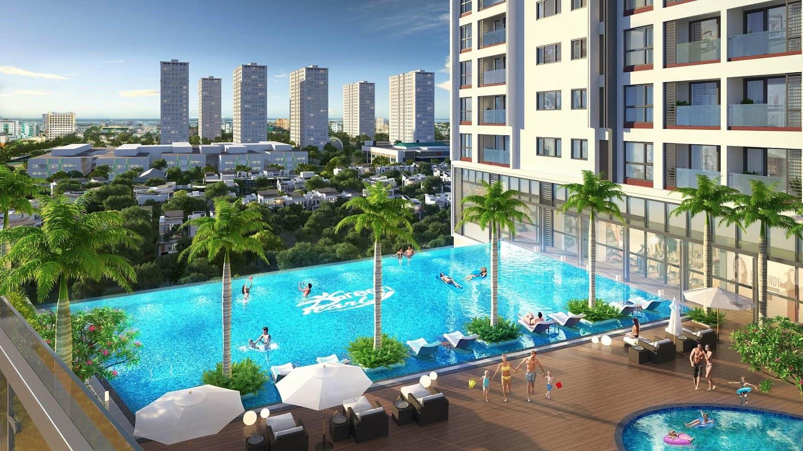 Bể bơi chung cư Green Pearl 378 Minh Khai
