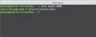Echoing $JAVA_HOME on Terminal Linux Base System