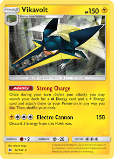 Vikavolt Sun and Moon Pokemon Card